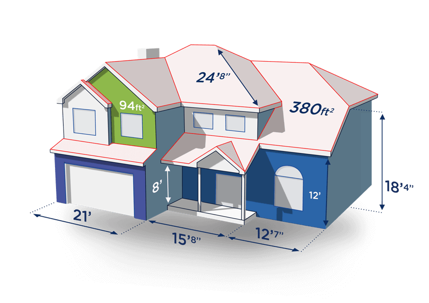 Exterior House Design App. Exterior Measurements Example