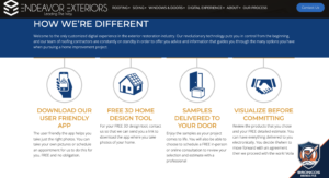 Endeavor Exteriors customized digital experience